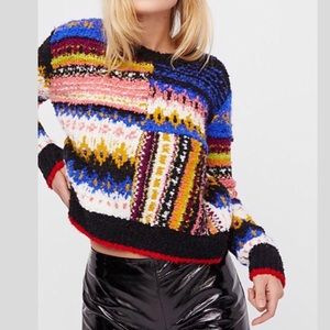 Free People Best Day Ever Colorblock Sweater